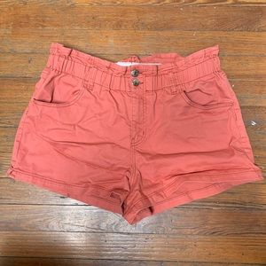 wild fable high waisted paper bag shorts